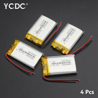 602540 3.7V 600mAh Lipo Battery Replacement For MP3 GPS DVD BT Headset 4Pcs C4A