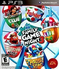 FAMILY GAME NIGHT 3 PS3! CLUE, LIFE, TWISTER, MOUSE TRAP, YAHTZEE HANDS DOWN