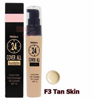 Mistine 24 Cover All Foundation Full Coverage Oil Control SPF 15 # Tan Skin