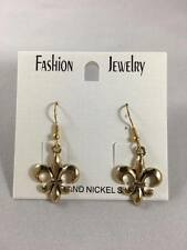 New Fleur-De-Lis EARRINGS Gold Dangle earring ear ring