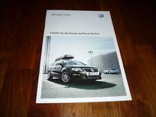 VW Passat Zubehör Prospekt 09/2009