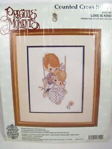 Precious Moments Cross Stitch Kit Love Is Kind 1995 Sealed #131-40 Vintage New