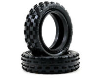 """Schumacher Racing U6592 """"Stagger Rib"""" 2.2 Slim 1/10 2WD Buggy Front Tires Yellow"""