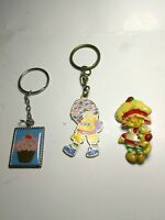 Strawberry Shortcake Lot Of 3 Pin Key Chains Vintage