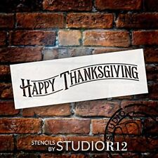 "Happy Thanksgiving - Project & Word Stencil - 15"" x 5"" - STCL1927_1 - by..."