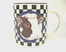 Cow Cup Mug Black White Checkered Banana Appeal