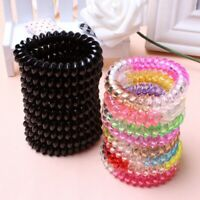 30Pcs Plastic Spiral Coil Telephone Cord Wire Hair Ties Hair Ring Bands New