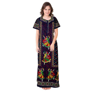 Women Cotton Nighty Gown Sleepwear Nightwear Maxi Soft Night Suit Cotton Printed