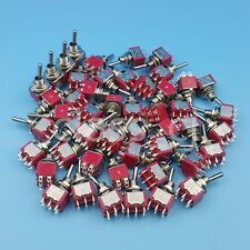 50Pcs SH T8011 6Pin DPDT 2Position ON-ON Maintained Mini Toggle Switch