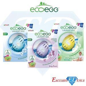 Ecoegg Laundry Egg 210 Washes Fragrance Free, Fresh Linen, Spring Blossom