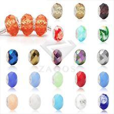 5 lots Kristall Facettierte Rondelle Perlen für Halskette Armband Schmuck 14mm