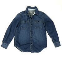Gap Kids Girls Size M 8 Lined Denim Shirt Jacket Button Down Blue Pockets