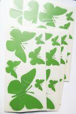 6 tlg. Wandtattoo Wanddeko Wandsticker Aufkleber Sticker Schmetterlinge grün