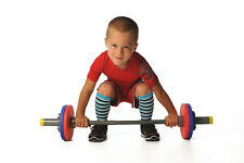 WOD Toys Barbell Mini - Adjustable Toy Barbell Set for Kids Fitness