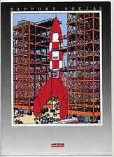 Tintin Rapport social Hergé Alsthom 1987 TBE