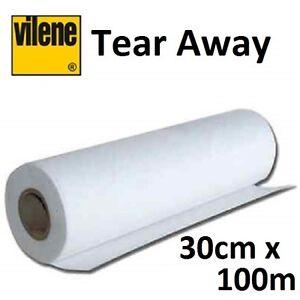 Vilene 30cm x100m Medium Weight Tear Away Interfacing - Embroidery Quilting Bulk
