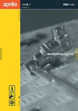 Aprilia RSV 1000 Mille Workshop Repair Service Manual 1115-2 FREE SHIPPING