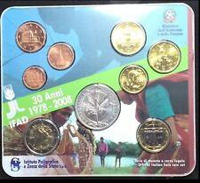 SERIE UFFICIALE 2008  ITALIA IPZS MONETE EURO con  5 EURO ARGENTO