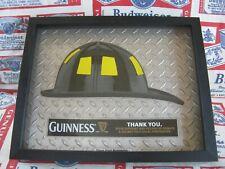 New Vtg 2013 Guinness Irish Beer Fireman Firefighter Helmet In Motion Bar Sign