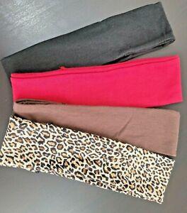 4X Scunci Gotta Have It Wide Workout Headwraps Headbands Black Brown Red Leopard