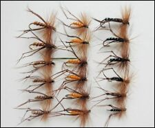 Hopper Fishing Flies, 18 Pack in Black Brown & Orange, Size 10/12/14 Fly Fishing