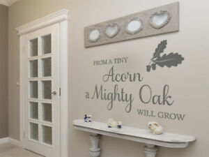 """Wall Quote """"From A Tiny Acorn"""" Motivational Cute Sticker Decal Decor Transfer"""