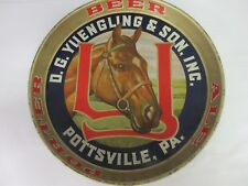 VINTAGE  YUENGLING ALE BEER  ROUND TAVERN  ADVERTISING RARE  SERVING TRAY 984-O