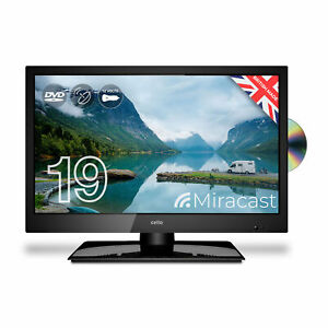 """Cello 19"""" Traveller HD LED 12V Volt TV with Miracast and Built in DVD Player"""