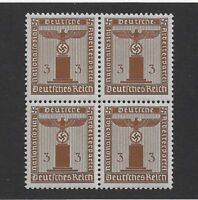 MNH WWII Official Party Symbol stamp block, 1942, PF03,  Third Reich Germany