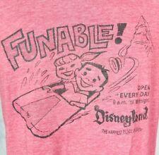 Disneyland WDI Imagineer Exclusive Disney Funable Red Pink Women's T-Shirt Small