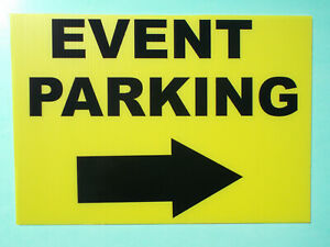 Event Signage - EVENT PARKING with RIGHT Arrow - Direction signs (24-46)