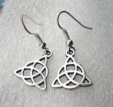 Viking Celtic Knot Ornate Charm Christian Earrings Insular Art FREE UK POST