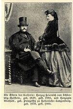 Die Eltern der deutschen Kaiserin Auguste Victoria ( Druck von 1906 )