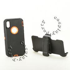 Defender iPhone X Case w/Holster Belt Clip Fits Otterbox Defender (Black/Orange)