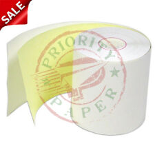 """3"""" x 90' 2-PLY CARBONLESS PoS RECEIPT PAPER - 200 NEW ROLLS  ** FREE SHIPPING **"""