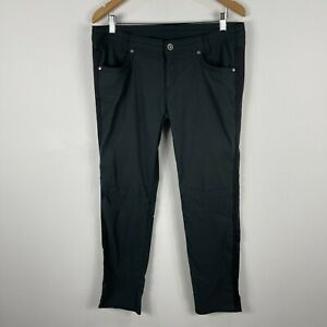 KUHL Womens Pants US 12 AU 16 Black Grey  Low Rise Straight Outdoor Hiking