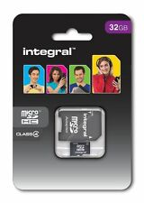 Integral 32GB Micro SDHC Memory Card For Phone Tablet With Adapter Micro SD Card