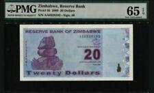 2009 Zimbabwe 20 Dollars PMG65 EPQ GEM  UNC Prefix AA <P-95>