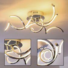 Design Deckenleuchte LED Wohn Zimmer Leuchten Chrom Decken Lampen Flur Strahler