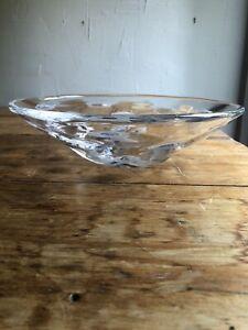 Orrefors Ingeborg Lundin Wild Bowl Sweden Art Glass MCM Modernist