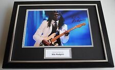 Nile Rodgers SIGNED FRAMED Photo Autograph 16x12 display Chic Music AFTAL COA