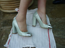 LOVE LABEL BRAND NEW MINTGREEN/SILVER FABULOUS PATENT  SHOES - SIZE 4