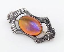 Vtg Sterling Silver Victorian Dragon's Breath Pin Brooch