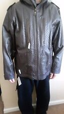 Mens Special Blend Brown Leather Coat Size Large NWT