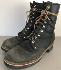 Georgia Work Boot Logger G8120 Boots Black Leather Soft Toe Lace Up Mens Size 9M