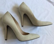 ALL SAINTS CREAM IVORY OYSTER SUEDE VIOLA CELESTINE HEELS SHOES WEDDING BRIDAL 6