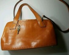 Fossil Natural Tan Leather Handbag Purse