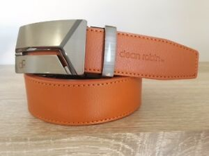 AUTOMATIC DR METAL BUCKLE TAN BROWN LEATHER BELT DEAN ROBIN  OVERSTOCK 80% OFF