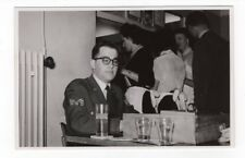 Vintage Photo Cute Young Man, Eye Glasses, Soldier, Gay Int., 1950's Feb18 b