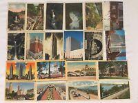 NY New York Ithaca Lot of 18 Cornell University Postcards; 1944 1940's Era Linen